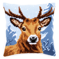 Deer Chunky Cross Stitch Cushion Kit By Vervaco