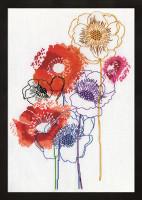Modern Floral Cross Stitch Kit By Design Works