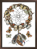 Dreamcatcher Stamped Cross Stitch Kit By Design Works