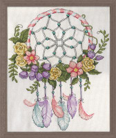 Pastel Dreamcatcher Cross Stitch Kit By Design Works
