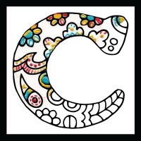 Zenbroidery - Letter C EMBROIDERY KIT By Design Works