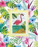 Flamingo Cross Stitch Kit By Design Works