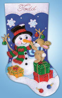Busy Bunny Stocking FELT kit By Design Works