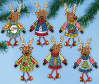Christmas Jumper Deers Cross Stitch Kit By Design Works