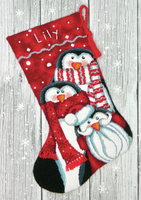 Needlepoint Kit: Stocking: Holiday Penguins