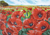 Red Poppy Field Craft Kit by Diamand Dotz