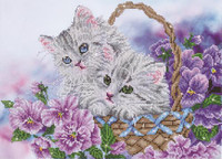 Kitty Basket Craft Kit by Diamand Dotz