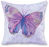 Papillon Mauve Pillow Craft Kit by Diamand Dotz