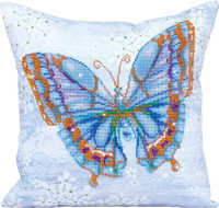 Papillon Bleu Pillow Craft Kit by Diamand Dotz