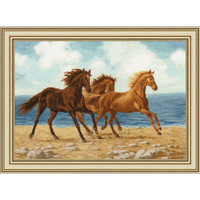 Horses Cross Stitch Kit by Golden Fleece