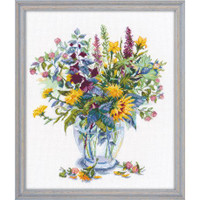Flowers Vase Cross Stitch kit by Oven