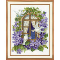 Love Sparrows Cross Stitch Kit by Oven