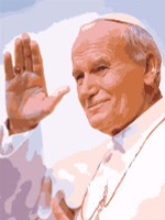 Pope John Paul Waving Canvas By Grafitec