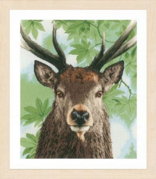 RTO Counted Cross Stitch Kit cushion front or pict Deer in the Fairy Forest