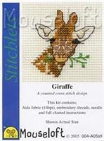 Giraffe Head Cross Stitch Kit by Mouseloft