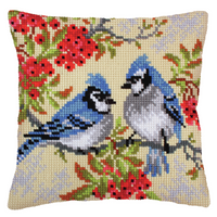 Chunky Cross Stitch Kit: Cushion: Blue Jays