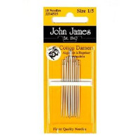 JJ14539 - Size 3/9 John James Nickel Plated Cotton Darners Needles