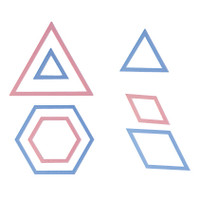 Patchwork Templates Triangles and Hexagons