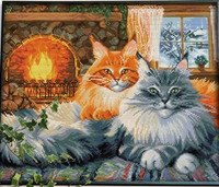 Diamond painting kit 2 Cats