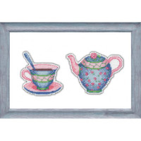 Enjoy your tea 3 Cross Stitch Kit by Oven