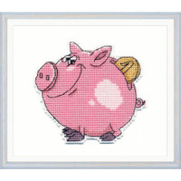 Piggy Bank Cross Stitch Kit by Oven