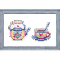 Enjoy your tea Cross Stitch Kit by Oven