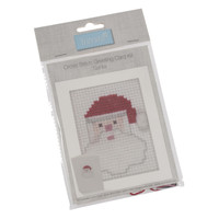 Cross Stitch Card Kit Santa