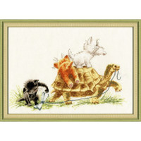 Lets Go Cross Stitch Kit by Golden Fleece