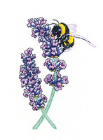 Lavender Bee Cross Stitch Kit By Heritage Crafts