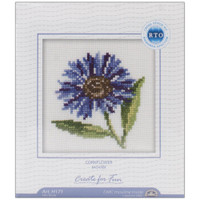 Cornflowers Cross Stitch Kit by RTO