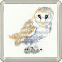 Barn Owl Cross Stitch Coaster Kit By Heritage Crafts