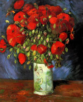 Red Poppies (van Gogh) CANVAS By Grafitec