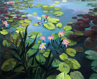 Lily Pond CANVAS By Grafitec