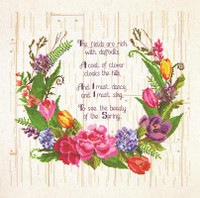 Spring Sentiments Cross Stitch Kit By Janlynn