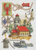 Seaside Collage Cross Stitch Kit By Janlynn