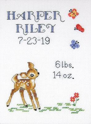 Baby Deer Sampler Cross Stitch Kit By Janlynn