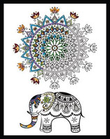 Zenbroidery - Elephant Mandala Printed Embroidery Kit By Design Works