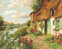 Cottage Landscape Cross Stitch Kit By Luca S