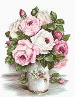 Mixed Roses on Aida Cross Stitch Kit By Luca S