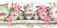 Assorted China on Aida Cross Stitch Kit By Luca S