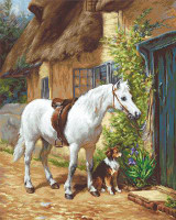 By the Cottage Petit Point Kits By Luca S