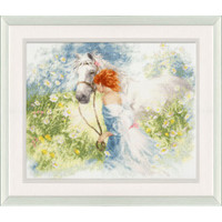 White Dream Cross Stitch Kit by Golden Fleece