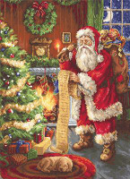 Santa's List Counted Cross Stitch Kit By Luca S