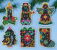 Christmas Fantasy Ornaments Cross Stitch Kit By Design Works