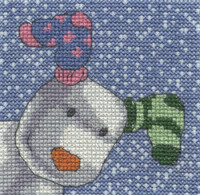 The Showdog - Its Snowing Cross Stitch Kit By DMC