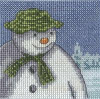The Snowman - Fir Trees Cross Stitch Kit By DMC