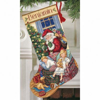 Gold: Counted Cross Stitch: Stocking: Sweet Dreams Cross Stitch By Dimensions