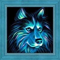 Neon Husky Diamond Painting Kit