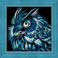 Neon Owl Diamond Painting Kit
