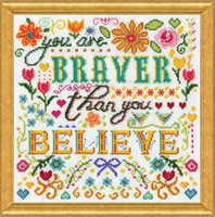 Braver Cross Stitch Kit by Design Works